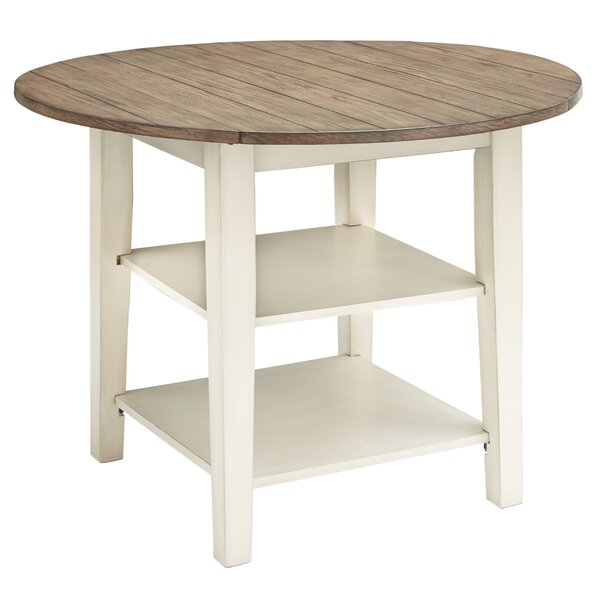 Mackin Round Drop Leaf Solid Wood Dining Table