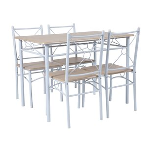 Portalia 5 Piece Kitchen Dining Set by Winston Porter