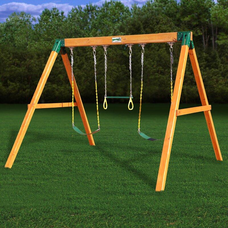 Gorilla Playsets Free Standing Swing Set Wayfair