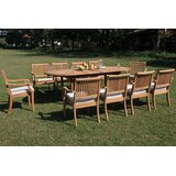 Maskell 11 Piece Teak Dining Set