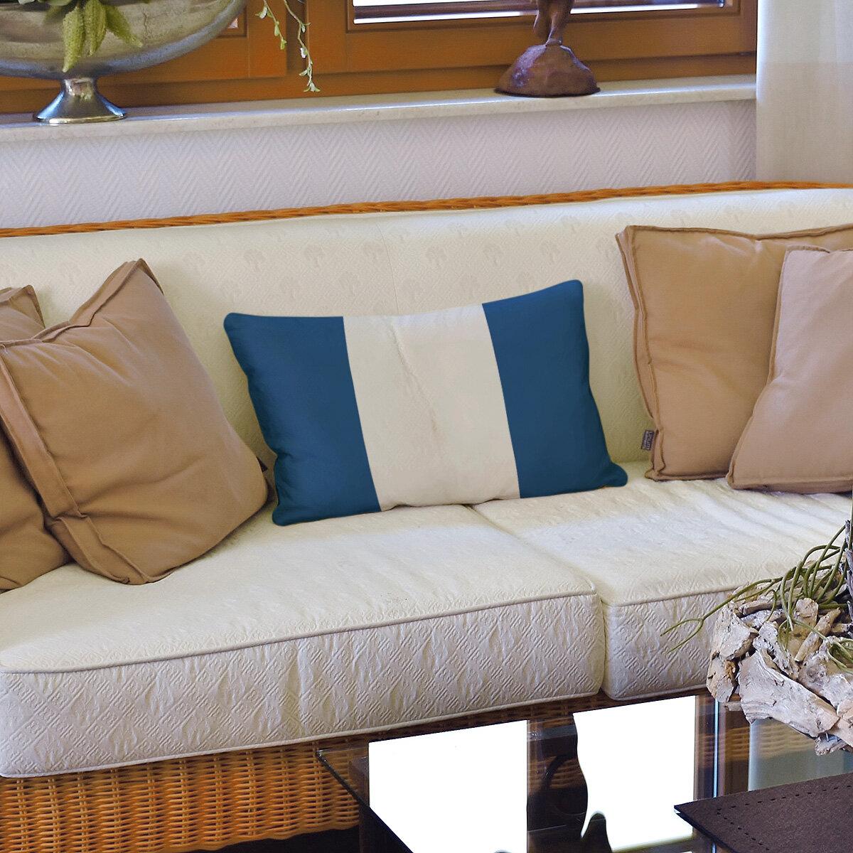 East Urban Home Tampa Bay Hockey Striped Lumbar Pillow Wayfair
