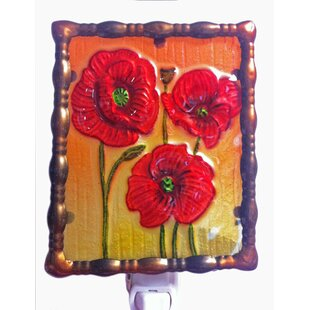 Best Reviews Glass Poppy Night Light By Continental Art Center