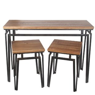Compare prices Pisa 3 Piece Nesting Table Set by 17 Stories