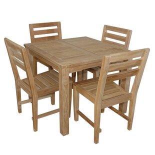 Bayou Breeze Kratz 5 Piece Teak Dining Set