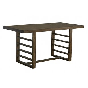 Occoquan Counter Height Trestle Dining Table, Dark Brown