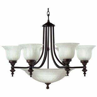 Alcott Hill Bainsbury 9-Light Shaded Chandelier