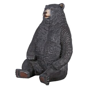 Design Toscano Sitting Pretty Oversized Bear Statue with Paw Seat