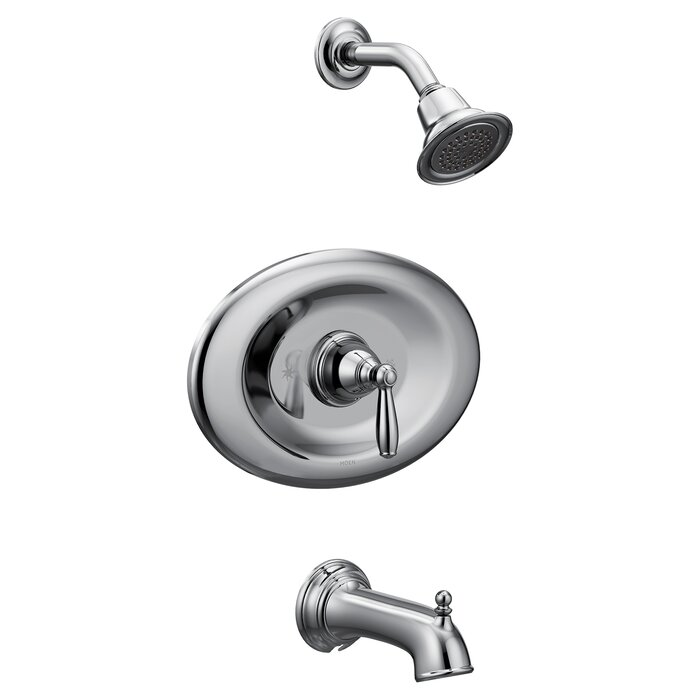 Brantford Conversion Tub And Shower Faucet With Metal Lever Handle