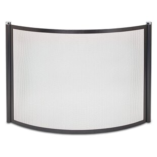 Metro Bowed Single Panel Fireplace Screen by Pilgrim Hearth