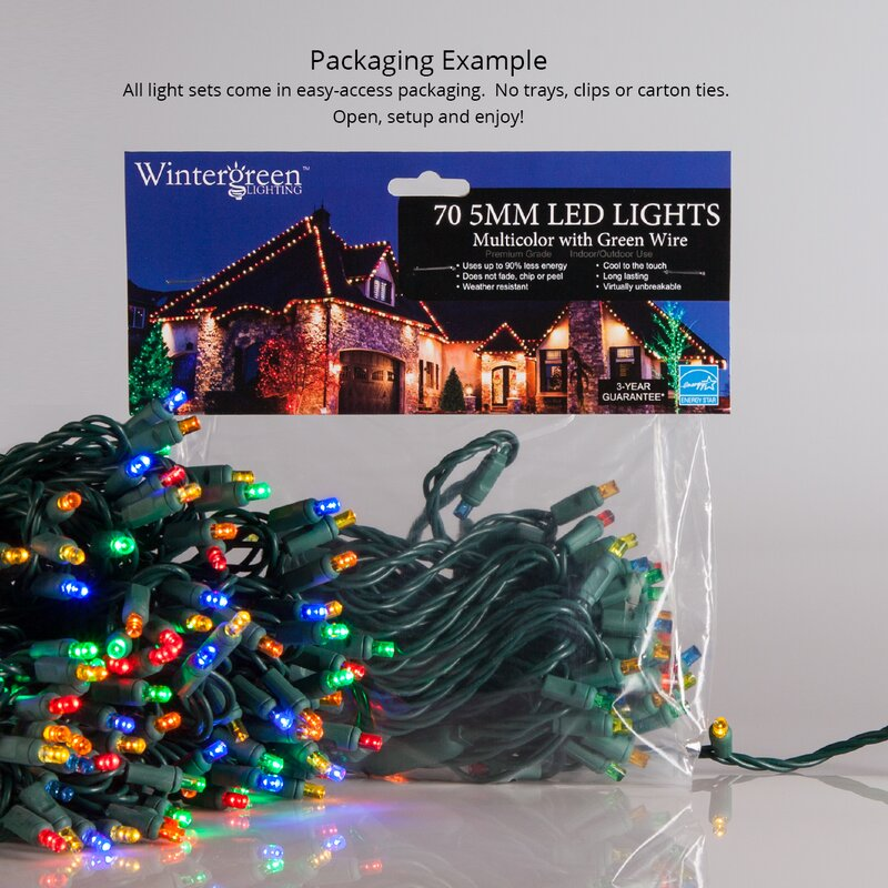 Lot Of  2 Home Accents  50 C7 Multi-Color Christmas Lights 48/' Length Home Décor