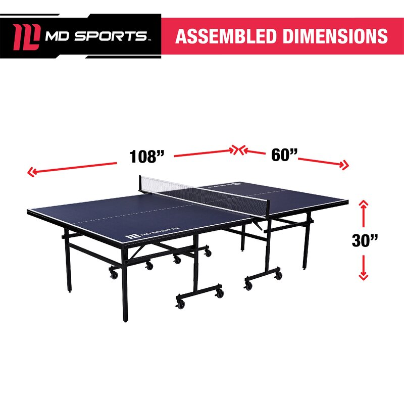 Md Sports Official Regulation Size Foldable Indoor Table Tennis