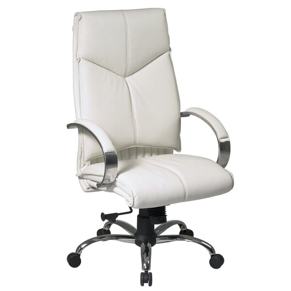 office star pro-line ii series high-back leather executive chair