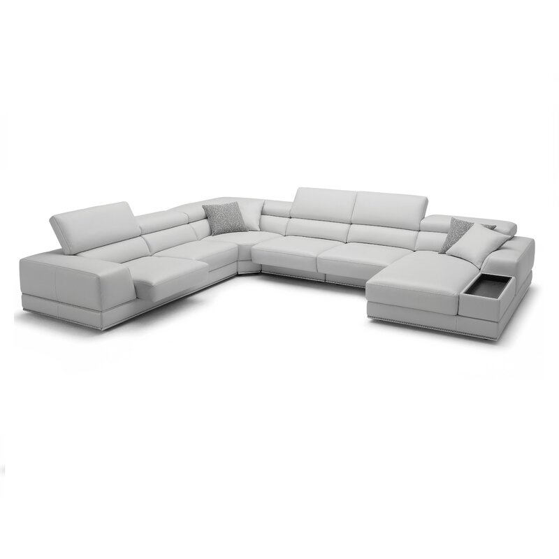Wade Logan Sectional Reviews Wayfair  sc 1 st  Sofa Nrtradiant : modani sectional - Sectionals, Sofas & Couches