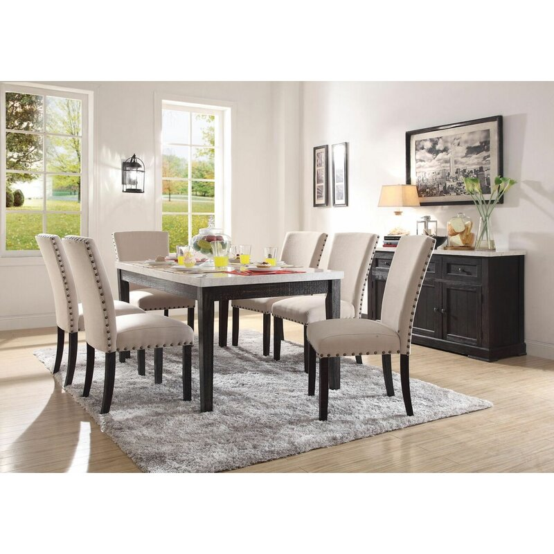 Gracie Oaks Densmore 7 Pieces Dining Set Wayfair
