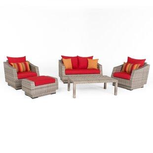 Castelli 5 Piece Sunbrella Sofa Set with Cushions by Wade Logan