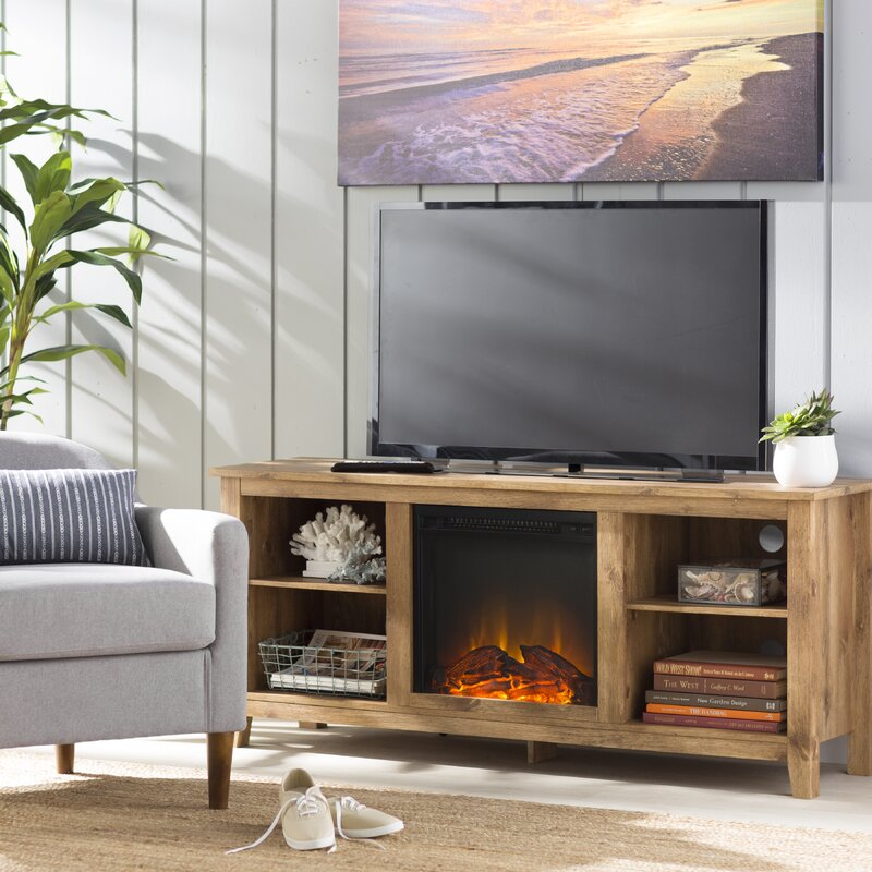 Beachcrest Home Sunbury Tv Stand For Tvs Up To 60 With Fireplace