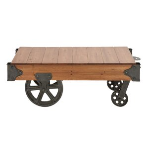 Wood And Metal Coffee Table Cart