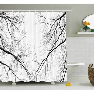 Nancy Forest Trees Branches Leafless Spooky Scary Image Single Shower Curtain