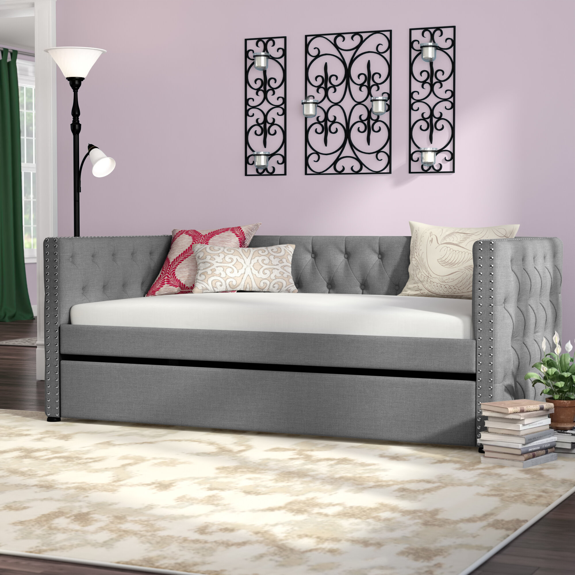 Charlton Home Dangelo Upholstered Twin Daybed With Trundle Reviews
