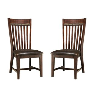 Whisenant Slat Back Side Chair (Set of 2) Millwood Pines