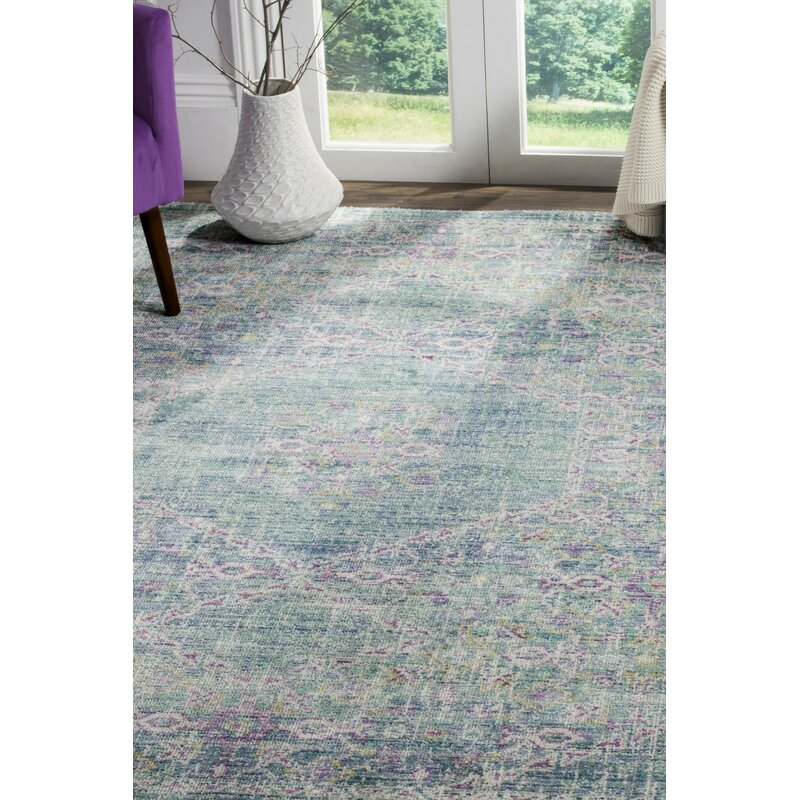 Mistana Bangou Bluepurple Area Rug Wayfair