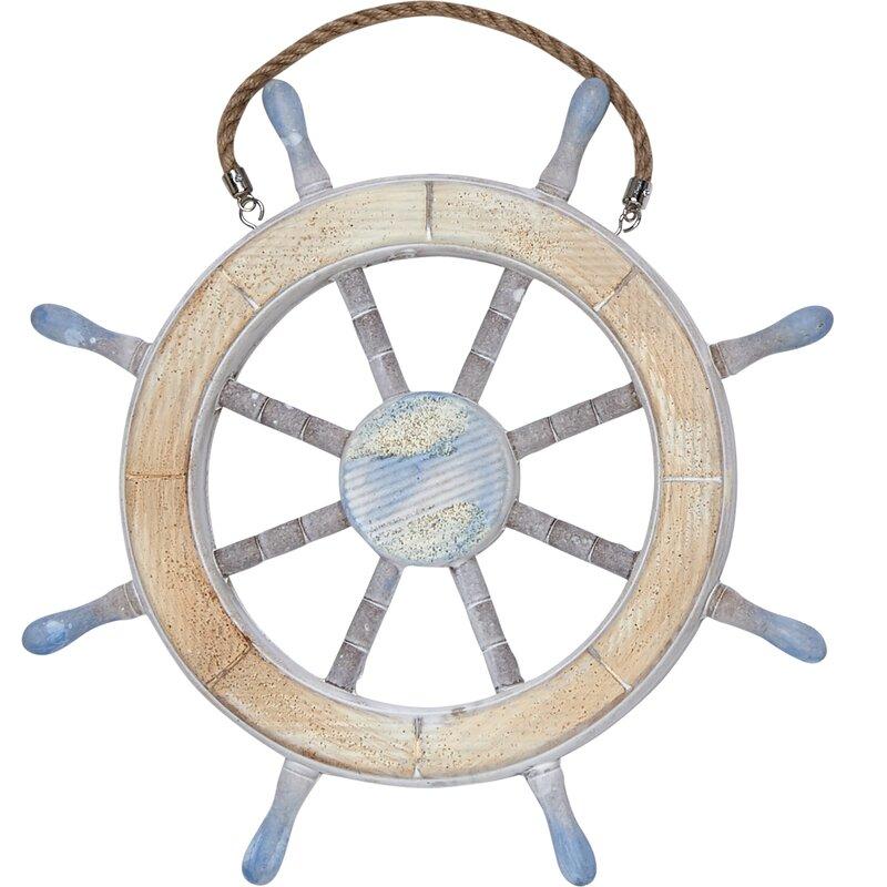 Breakwater Bay Nautical Ship Wheel Wall