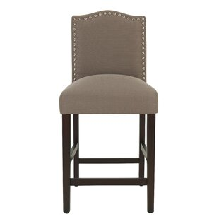 Nickson Upholstered 25.5 Bar Stool by Charlton Home