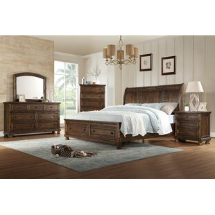 Gracie Oaks Morehouse Sleigh 4 Piece Bedroom Set