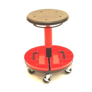 Height Adjustable Tool Trolley with Removable Tray - High