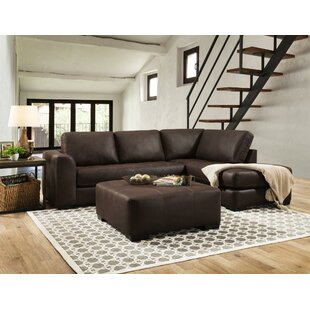 Loon Peak Prou Sofa and Chaise Sectional with Ottoman