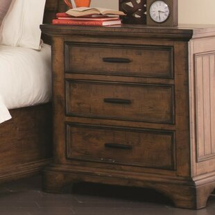 Ingerson Wooden 3 Drawer Nightstand by Loon Peak