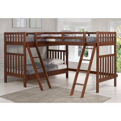 Harriet Bee Reasor Twin L-Shaped Bunk Beds