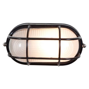 Inexpensive Flintwood 1-Light 9W Outdoor Bulkhead Light By Beachcrest Home