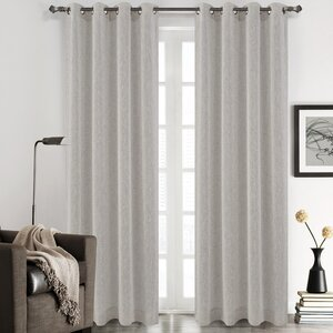 Chloe Solid Sheer Grommet Curtain Panels (Set of 2)