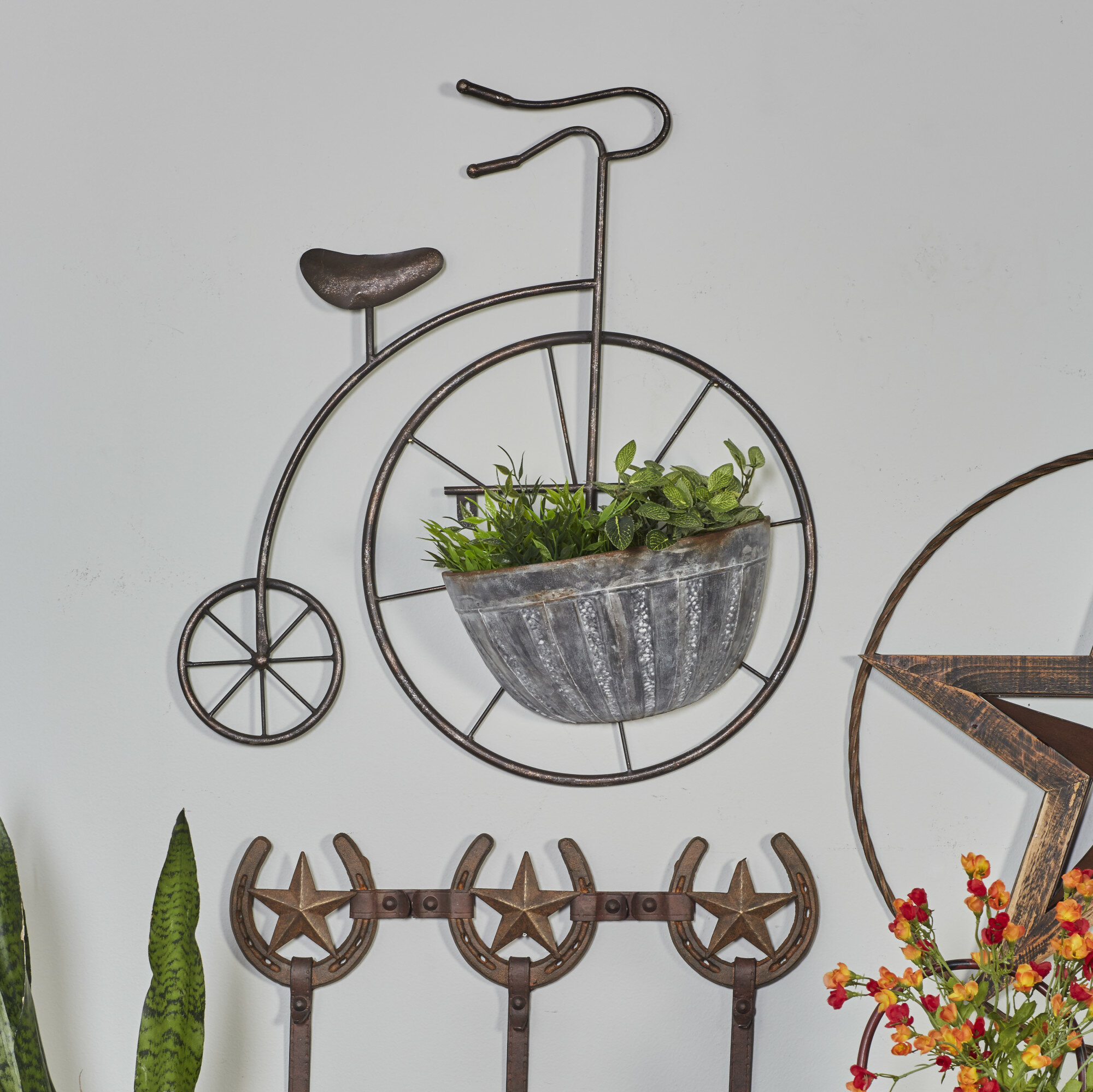 Delivery Trike Planter Rustic Three Wheeler