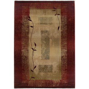 Matilda Dark Red/Beige Area Rug