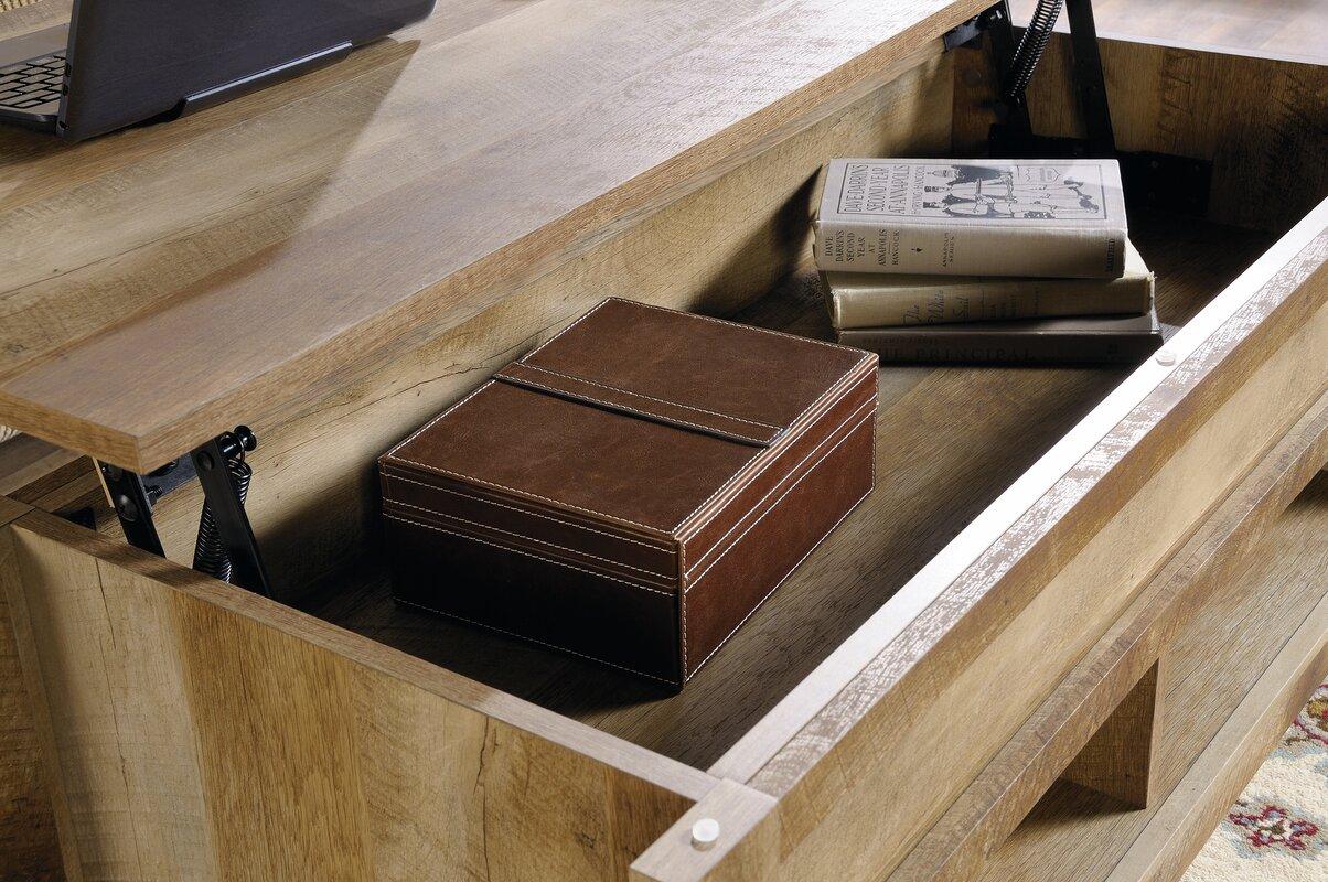 lift itm wood natural ebay brown modern s rustic table coffee top storage