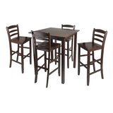 Auburn Road 5 Piece Counter Height Pub Table Set by Red Barrel Studio®