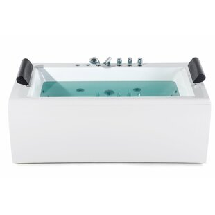 830 mm x 1720 mm Single Ended Whirlpool Bathtub with 14 jets (Set of 2) by Belfry Bathroom