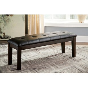 Kitchen dining benches youll love wayfair bartons bluff woodupholstered bench workwithnaturefo