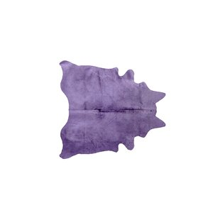 Savings Plainsboro Hand-Woven Leather Purple Cowhide Area Rug By Latitude Run
