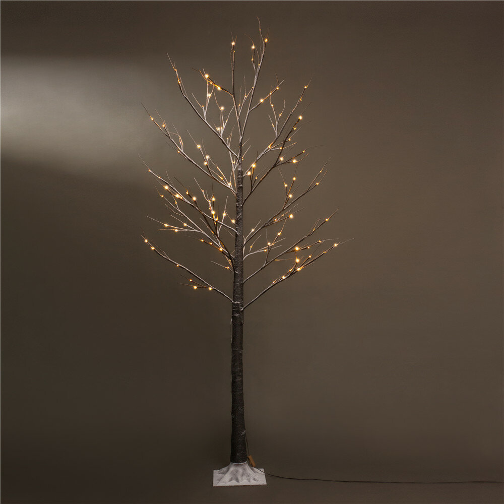 The Holiday Aisle 7' Brown Artifical Christmas Tree with 120 LED Warm White Lights & Reviews | Wayfair