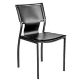 Misti Upholstered Side Chair in Black (Set of 4) by Latitude Run