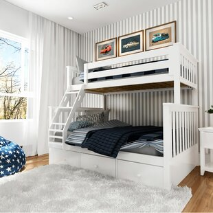 Wardingham Bunk Bed With Storage Drawers by Harriet Bee