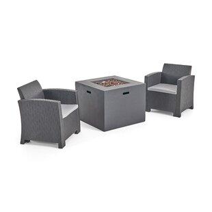 Warrensburg Outdoor 3 Piece with Cushions by Brayden Studio