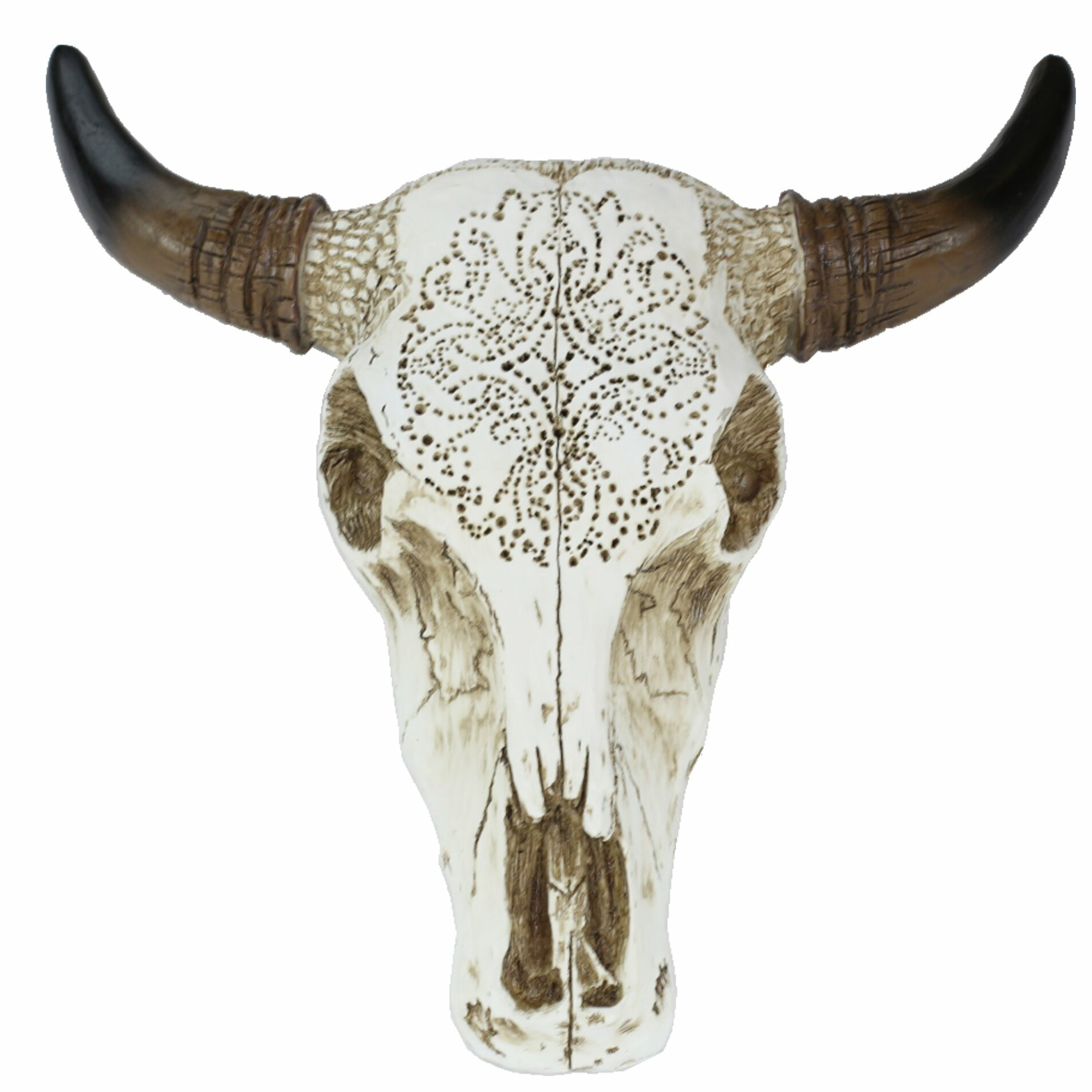 Tooled Goat Skull Wall Decor
