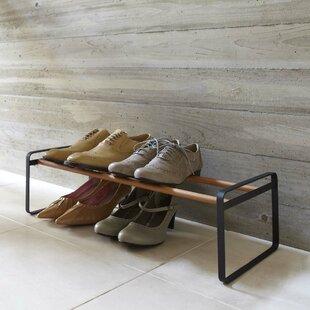 Reviews Plain 8 Pair Shoe Rack ByYamazaki Home