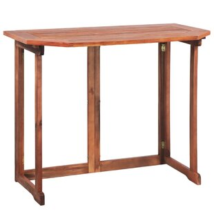 Review Shirebrook Folding Wooden Balcony Table