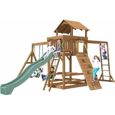 Backyard Discovery Oceanview All Cedar Swing Set Reviews Wayfair