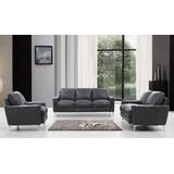 Mckinney Modern 3 Piece Leather Living Room Set by Orren Ellis
